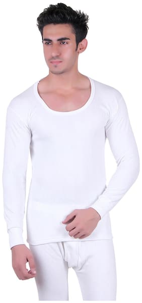 Unix White Cotton Thermal Upper Wear