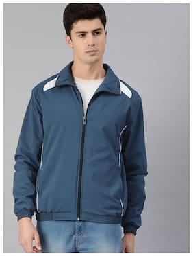Men Polyester Long Sleeves Windcheater Jacket