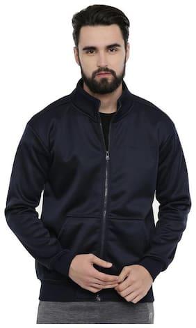 Men Poly Cotton Long Sleeves Biker Jacket
