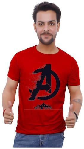 upperwear Men Maroon Regular fit Cotton Round neck T-Shirt - Pack Of 1