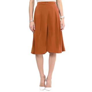 Uptownie Lite Brown Knee Length Adjustable Palazzos