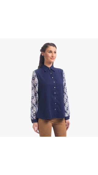 Top Full Lite Navy Blue Sleeves Uptownie Party qPCTwY
