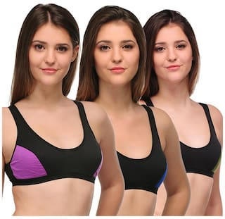Pack Color Cotton Of Multi URBAANO Bra 3 yIqA1W4