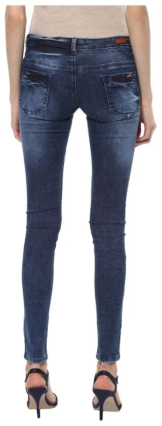 Jeans Skinny Stretchable Navy Women's Fit Urban qT7BXwn7