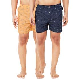 Men Cotton Printed Underwear ,Pack Of 2