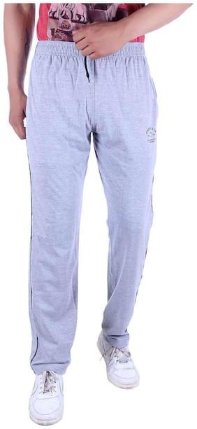 URBANUTH Men Cotton blend Track Pants - Grey
