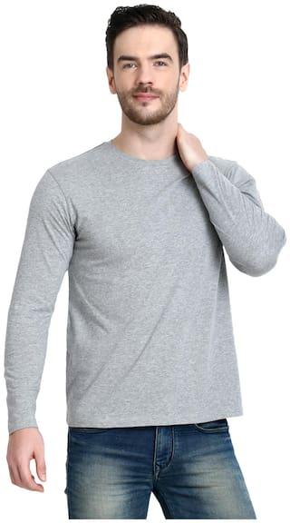 URBAN VIEW Men Grey Regular fit Cotton Round neck T-Shirt - Pack Of 1