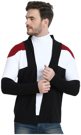 URBAN VIEW Men Multi Colorblocked Shrug