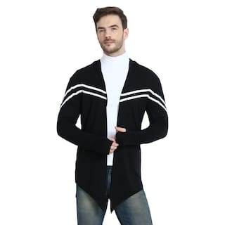 URBAN VIEW Men Black Solid Shrug