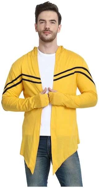 URBAN VIEW Men Yellow Solid Shrug