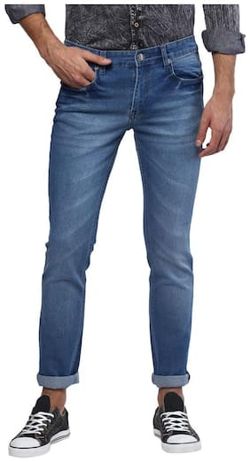 Urbano Fashion Men's Blue Slim Fit Stretchable Jeans