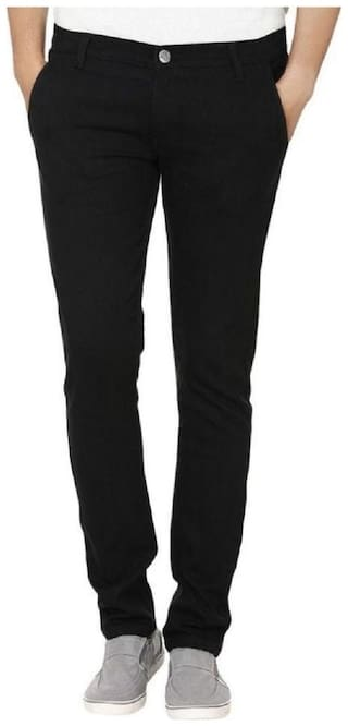 Urbano Fashion Men Black Slim Fit Jeans