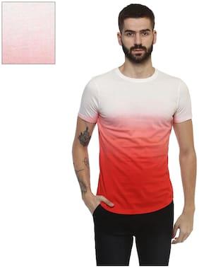 Men Round Neck Dyed T-Shirt
