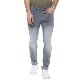 Urbano Fashion Men's Light Grey Slim Fit Stretchable Jeans