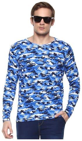 Men Crew Neck Camouflage T-Shirt