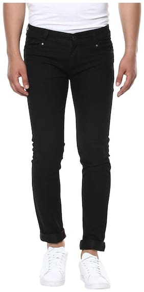 Urbano Fashion Men's Black Slim Fit Stretchable Jeans