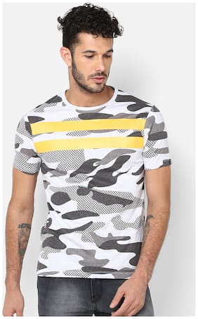 Men Round Neck Camouflage T-Shirt