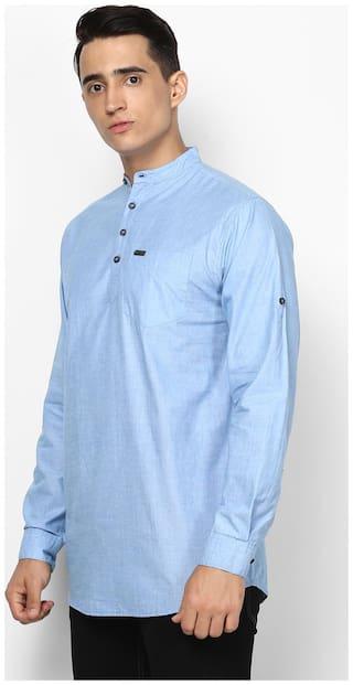 Urbano Fashion Men Slim fit Casual shirt - Blue
