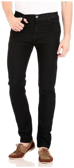 Urbano Fashion Men Mid rise Slim fit Jeans - Black