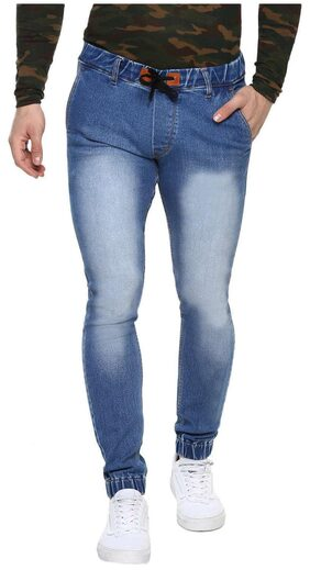 Urbano Fashion Men's Blue Stretchable Slim Fit Jogger Jeans