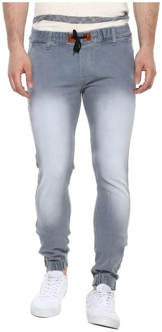 Urbano Fashion Men Mid rise Jogger Jeans - Grey
