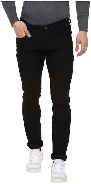 Urbano Fashion Men Black Regular Fit Jeans