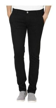 Urbano Fashion Men's Mid Rise Slim Fit Jeans - Black