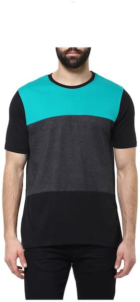 Urbano Fashion Men's Black;Grey;Green Round Neck Half Sleeve T-Shirt
