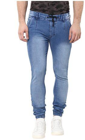Urbano Fashion Men's Light Blue Slim Fit Stretch Jogger Jeans