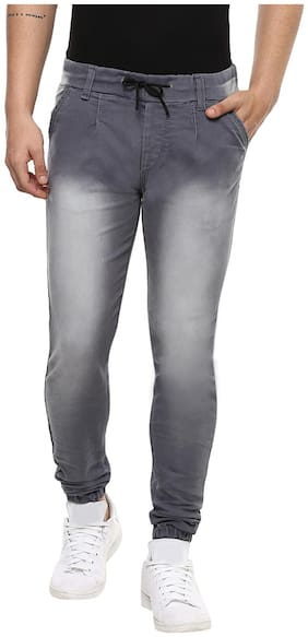 Urbano Fashion Men's Grey Slim Fit Jogger Jeans Stretchable