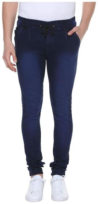 Urbano Fashion Men Mid rise Jogger Jeans - Navy blue