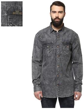 Men Slim Fit Faded Casual Shirt