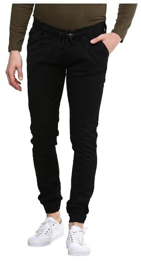 Urbano Fashion Men's Black Slim Fit Stretchable Jogger Jeans