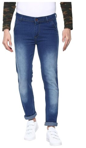 Urbano Fashion Men's Light Blue Slim Fit Stretchable Jeans