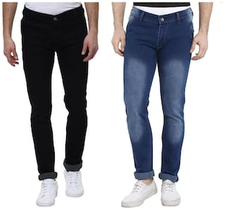 Urbano Fashion Men High rise Regular fit Jeans - Black