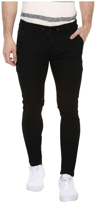 Urbano Fashion Men Black Skinny Fit Jeans
