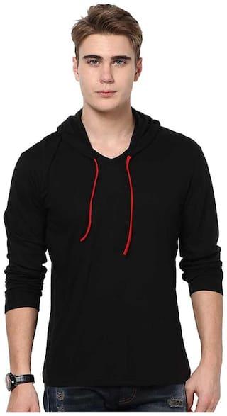 Urbano Fashion Men Cotton Hoodie - Black