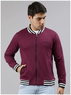 Men Fleece Long Sleeves Sports Jacket