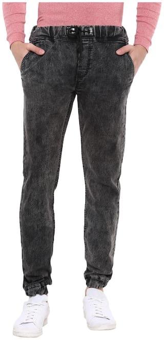 Urbano Fashion Men Black Slim Fit Jeans