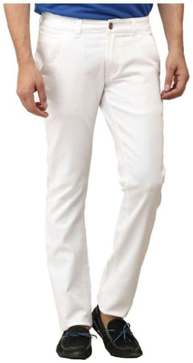 Urbano Fashion Men Mid rise Slim fit Jeans - White