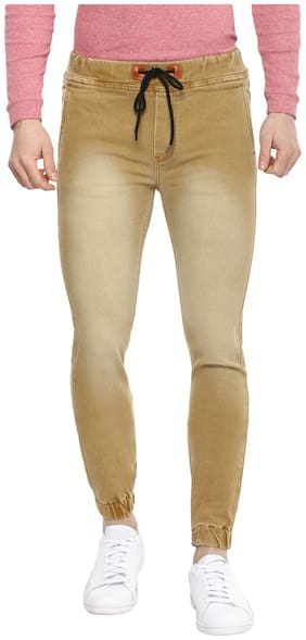 Urbano Fashion Men Mid rise Slim fit Jeans - Brown