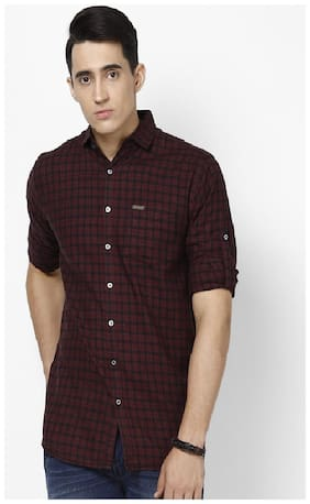 Urbano Fashion Men Slim fit Casual shirt - Maroon