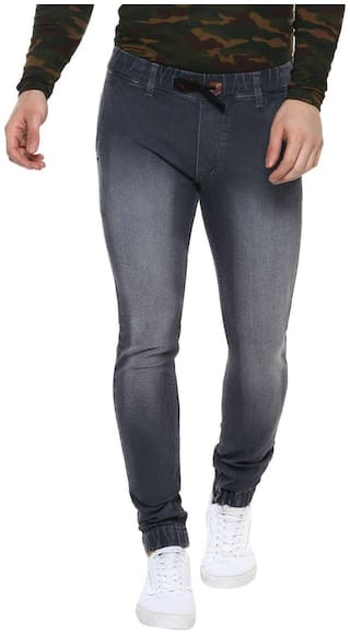 Urbano Fashion Men Grey Slim Fit Jeans