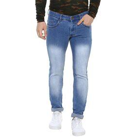 Urbano Fashion Men's Blue Stretch Slim Fit Jeans
