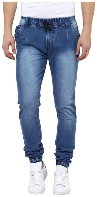 Urbano Fashion Men Navy Blue Slim Fit Jeans