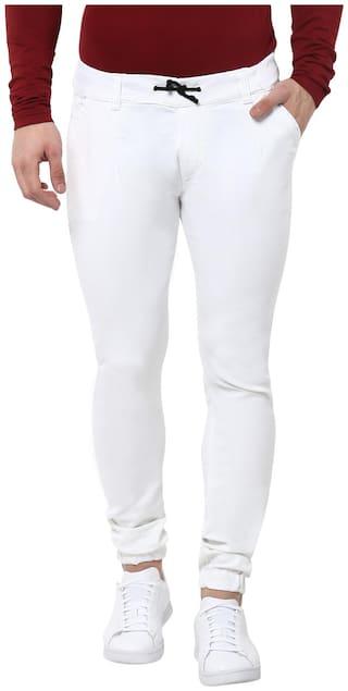 Urbano Fashion Men White Jogger Jeans