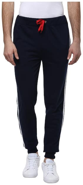 Urbano Fashion Men's Navy Blue Cotton Trackpants