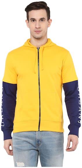 Urbano Fashion Men Cotton Sweatshirt - Yellow