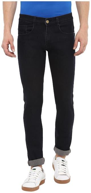 Urbano Fashion Men Mid rise Slim fit Jeans - Black