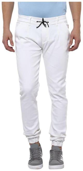 Urbano Fashion Men Mid rise Jogger Jeans - White